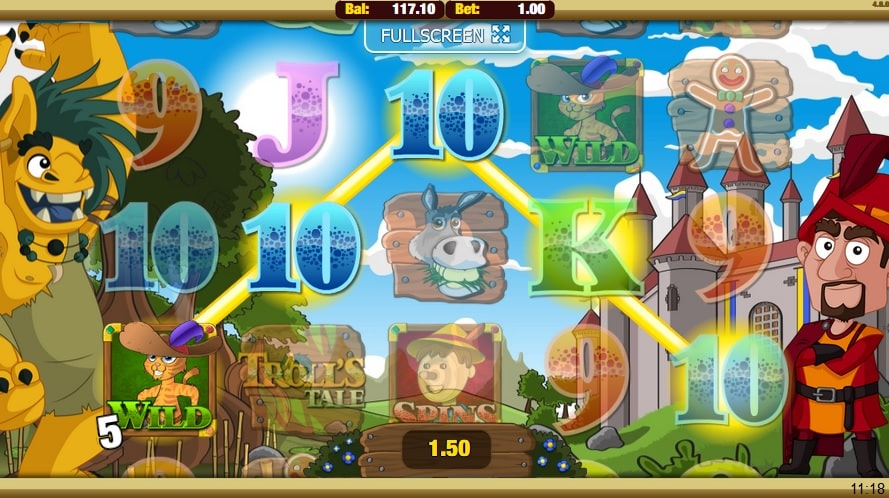 troll's tale nektan slot small win