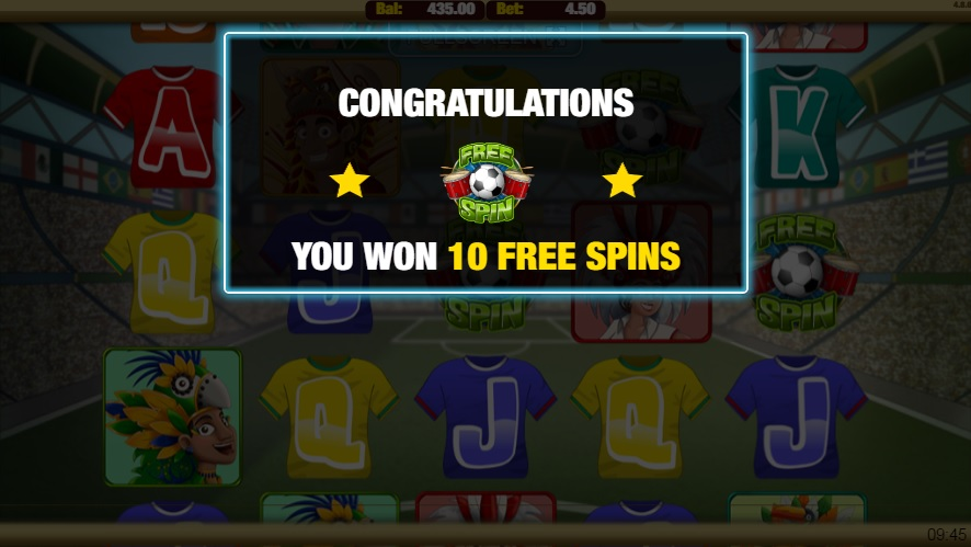 Carnival Cup Free Spins Win