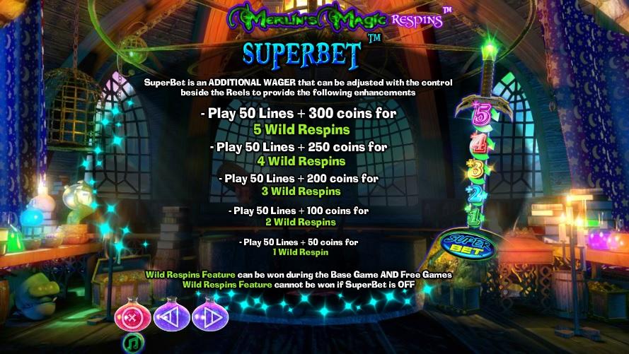 Merlin's Magic Respins Superbet Features