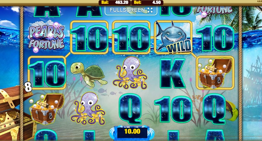 Pearls Fortune Slot Gameplay