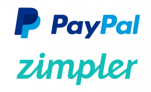 PayPal and Zimpler Logos