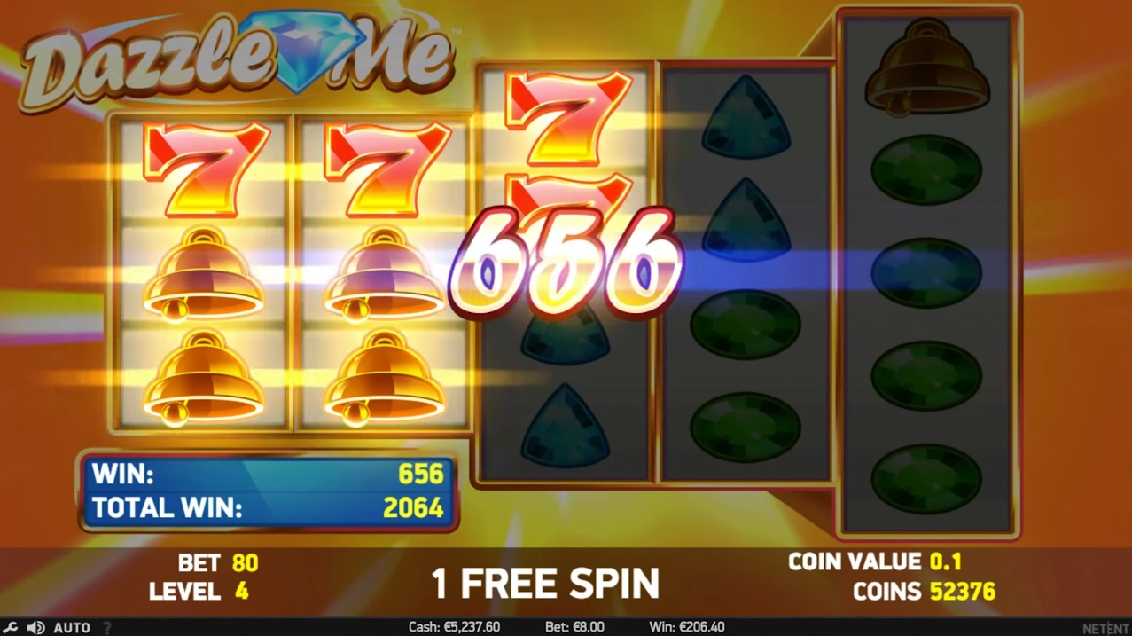 Dazzle Me Free Spins Big Win