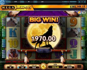 Wolf Run Extra Spins Big Win