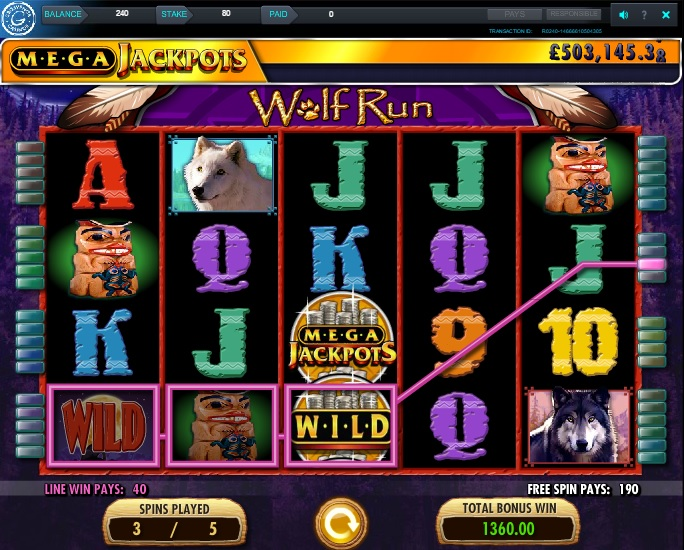 Wolf Run Free Spins Win