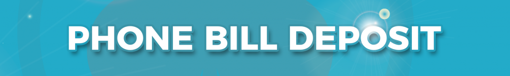 phone bill deposit