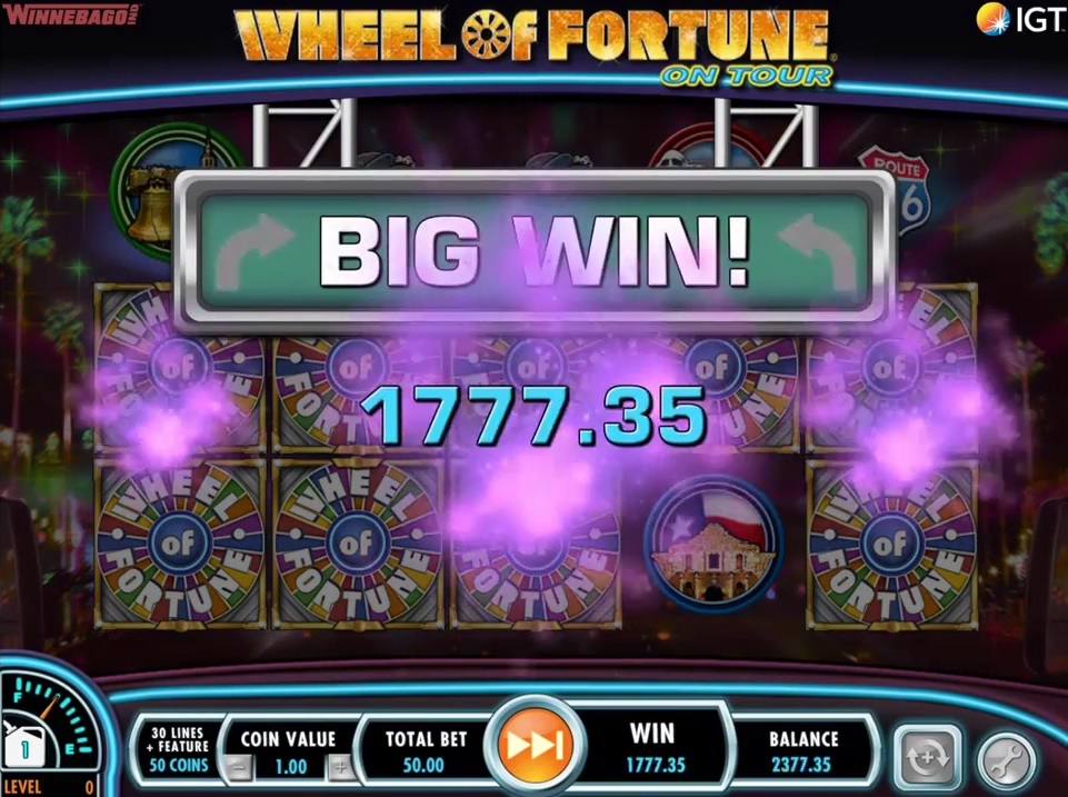 Wheel of Fortune on Tour Big Win