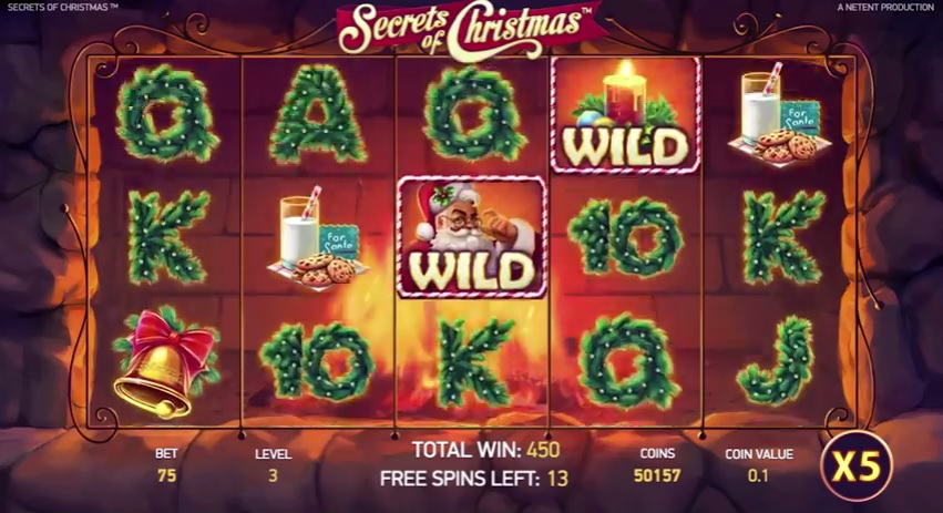 Secrets of Christmas Free Spins Gameplay