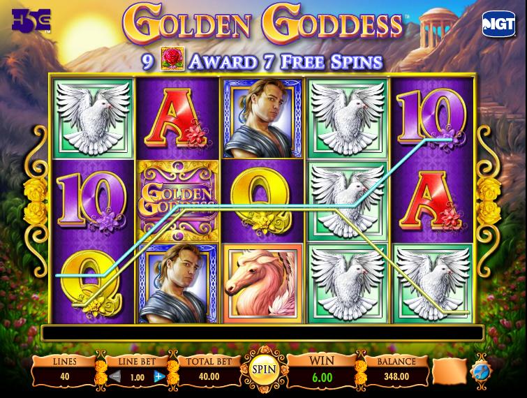 Golden Goddess slots - IGT Golden Goddess spilleautomat
