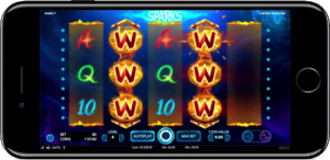 Sparks Mobile Slot NetEnt Wilds iPhone