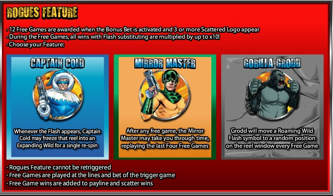 The Flash Rogue Features Info