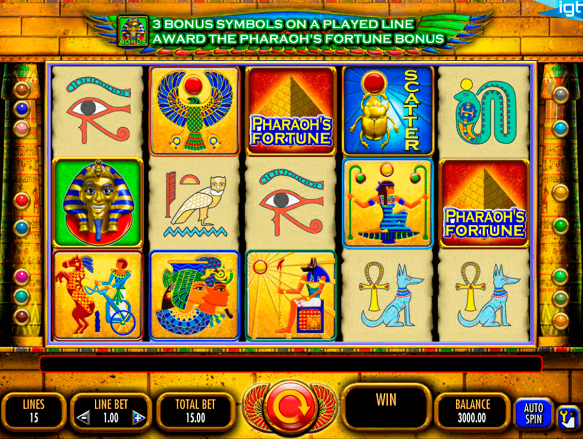 pharaoh's fortune slot main game