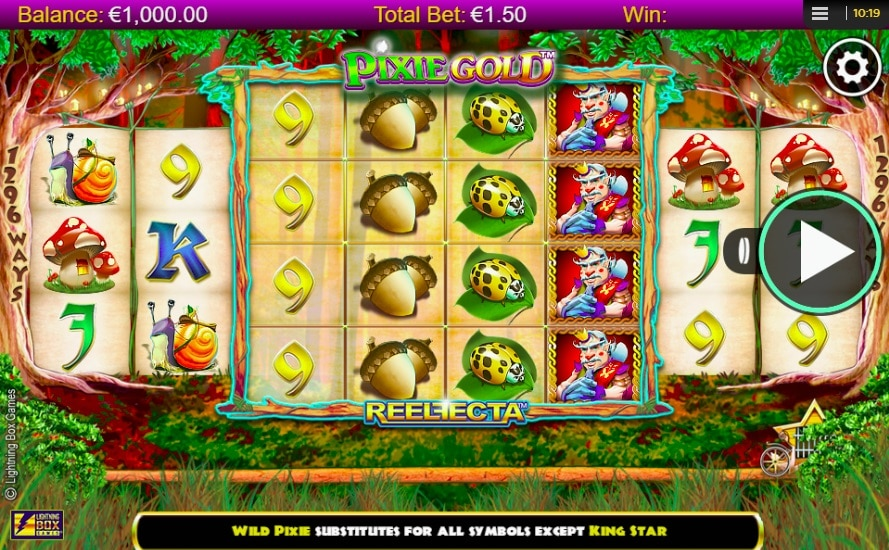 Pixie Gold Slot Gameplay Screenshot