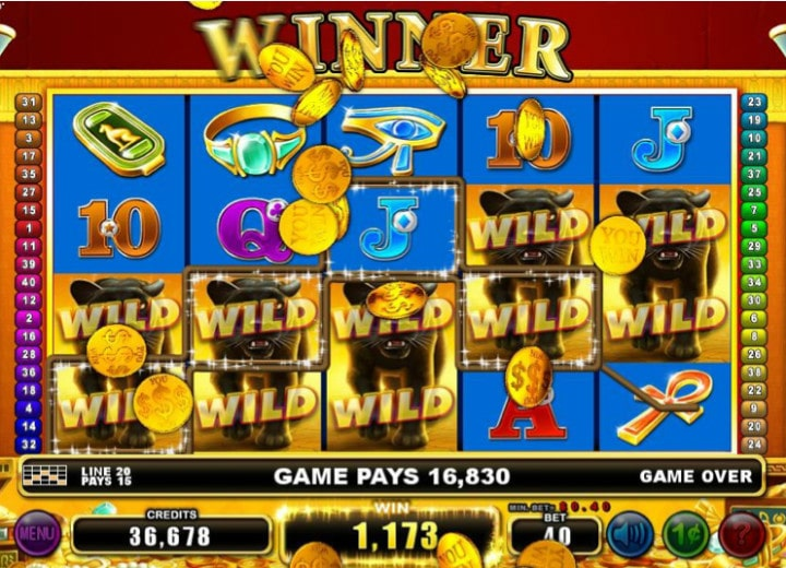 treasures of the pyramids slot big win