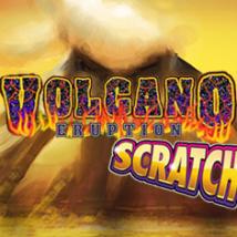 Volcano Eruption Scratch Banner