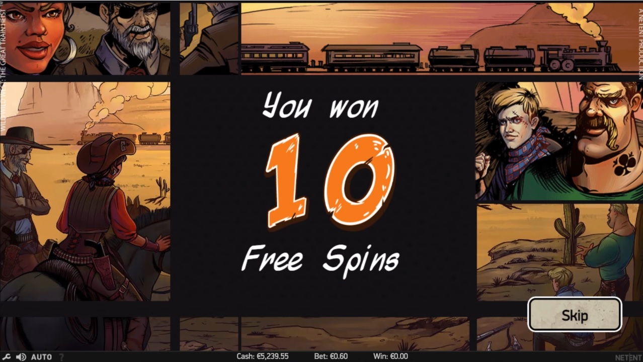 Wild Wild West Free Spins Win