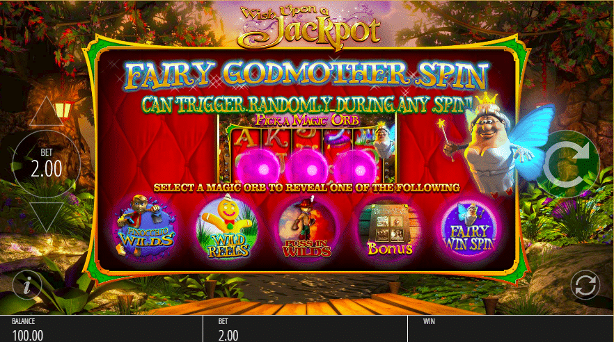 Wish Upon a Jackpot Fairy Spins Bonus