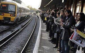 commuter train platform