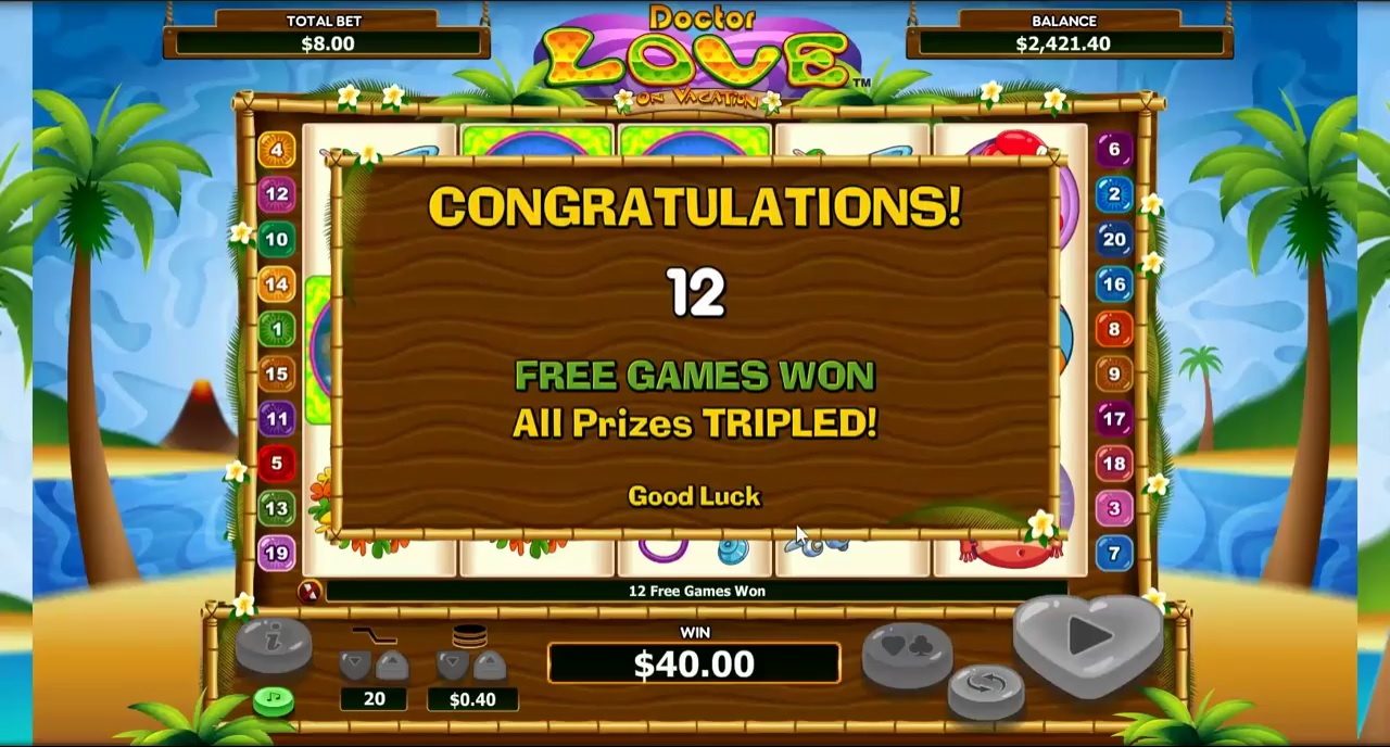 Doctor Love on Vacation Free Spins Trigger