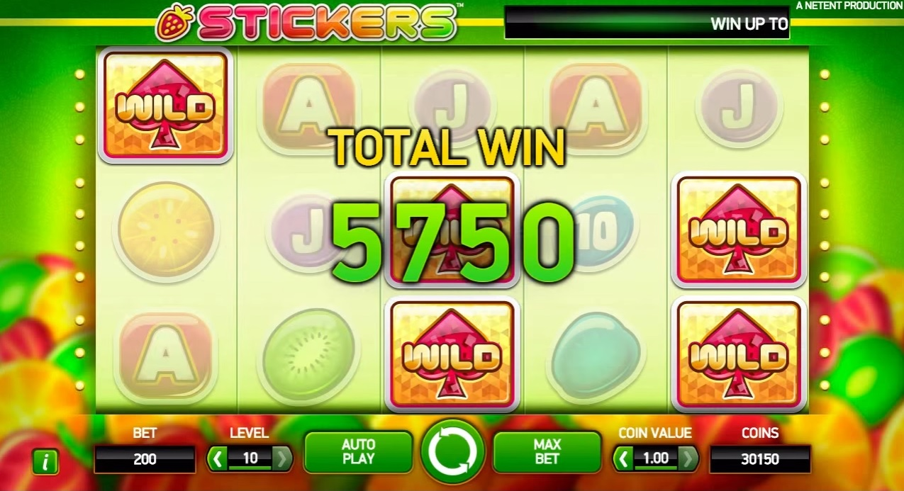 Stickers Sticky Spins Normal Win