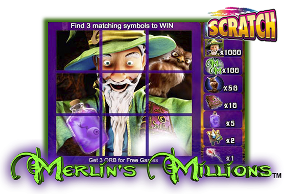 Merlin's Millions Scratch Card Game