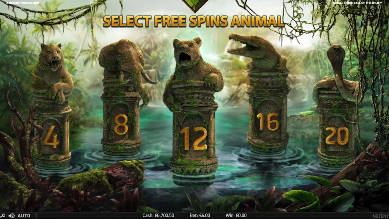 Jungle Spirit Select Free Spins