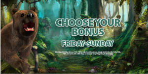 Weekend Choose Your Bonus
