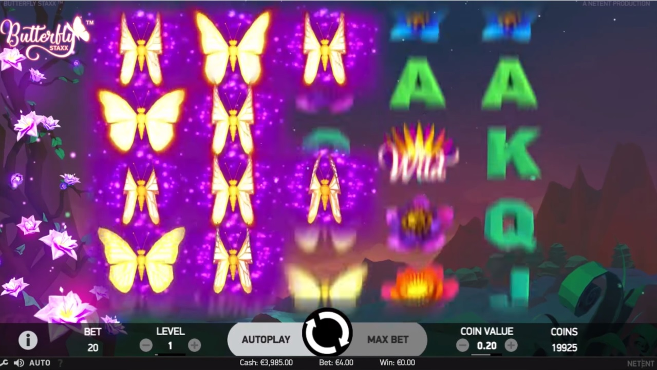 Butterfly Staxx Re-spins Feature