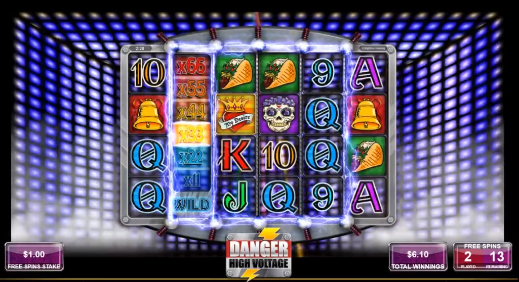 Danger High Voltage Free Spins Multipliers