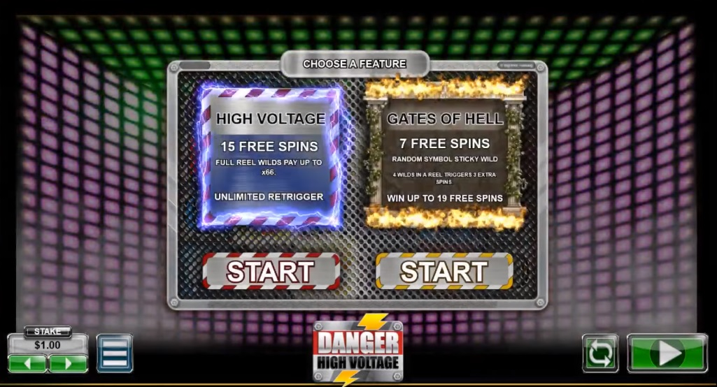 Danger High Voltage Free Spins Trigger