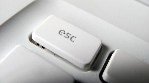 Escape Button Keyboard White
