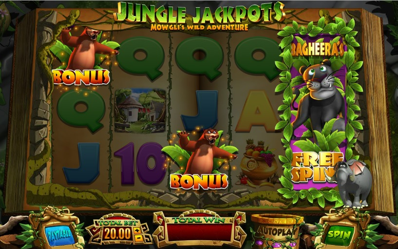 Jungle Jackpots Bagheera's Free Spins