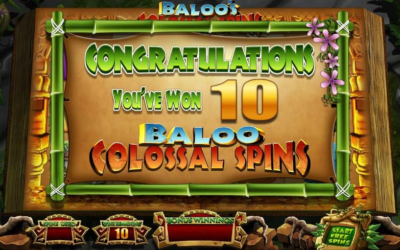 Jungle Jackpots Extra Spins Win