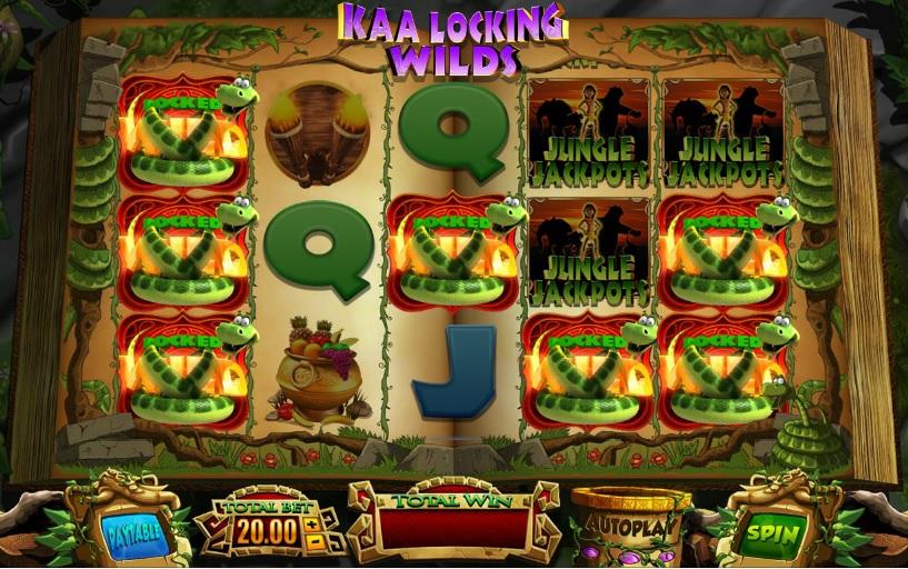 Jungle Jackpots Kaa Locking Wilds
