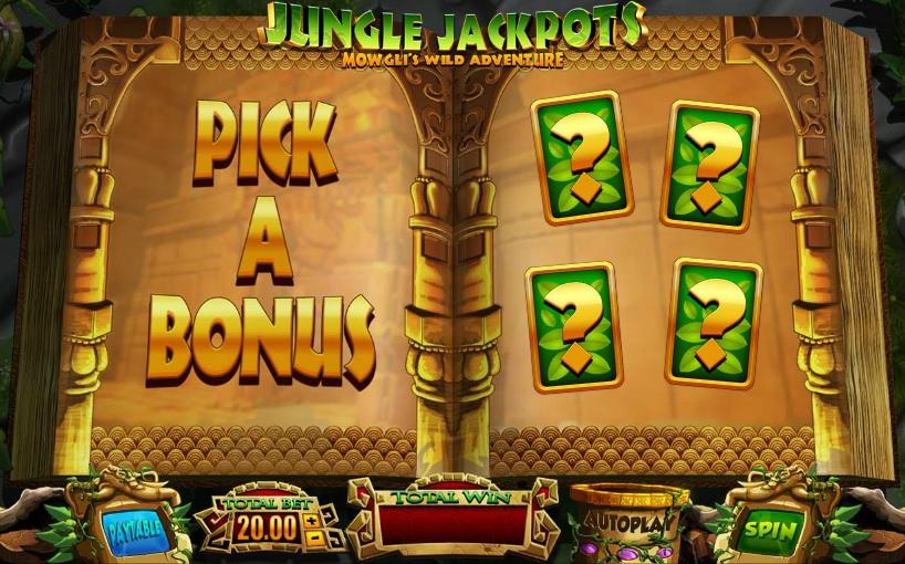 Jungle Jackpots Pick a Bonus Gameplay