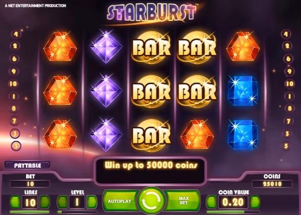 Starburst Bonus Symbols
