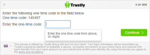 trustly secure login