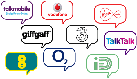 UK Phone Network Logos