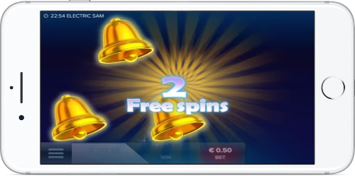 Electric Sam Free Spins Win
