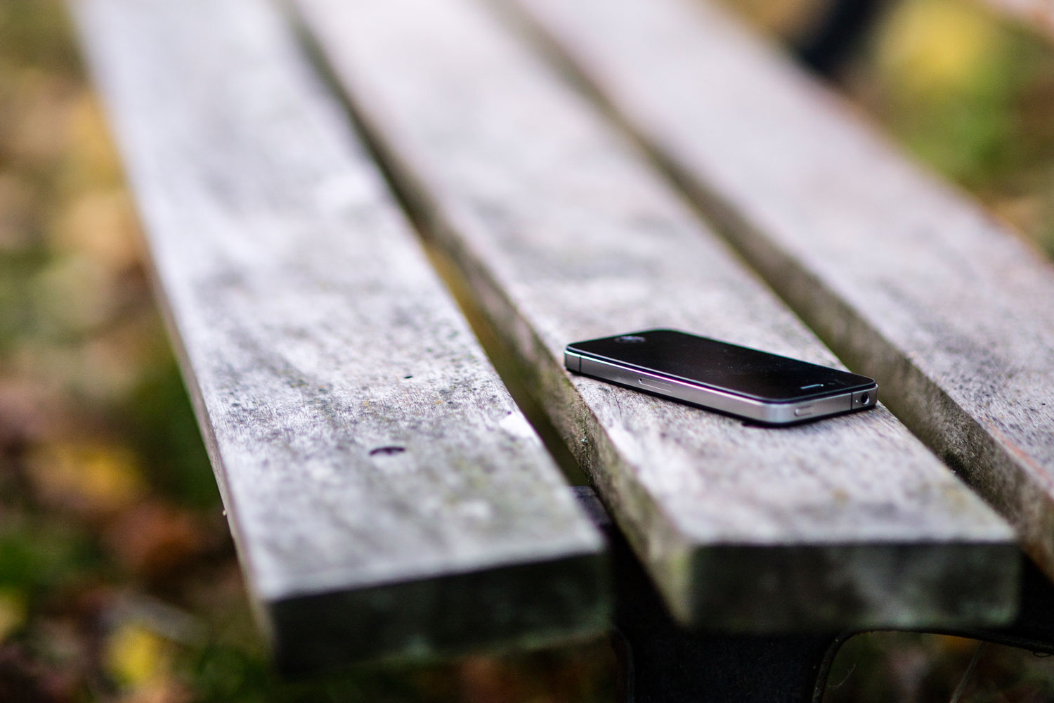Missing Phone on Bench