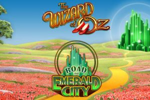 road to emerald city slot logo