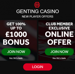 Genting Casino Welcome Bonus