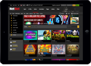 NetBet Games in Tablet