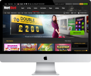 NetBet Homepage in Computer