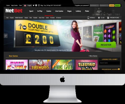 NetBet Homepage in Computer