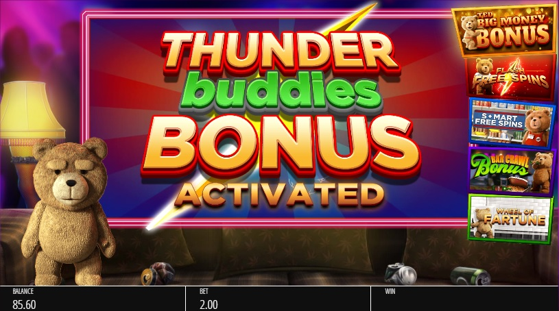 Ted Thunder Buddies Feature Activation