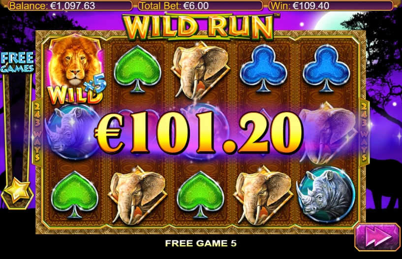 Wild Run Extra Spins Big Win