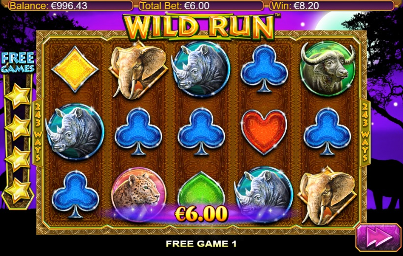 Wild Run Extra Spins Gameplay