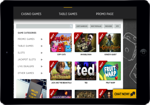 21Casino Games in Tablet