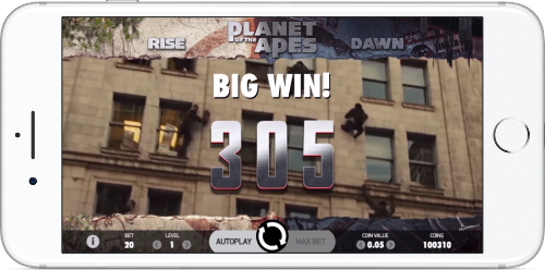 Planet of the Apes Big Win Graphics