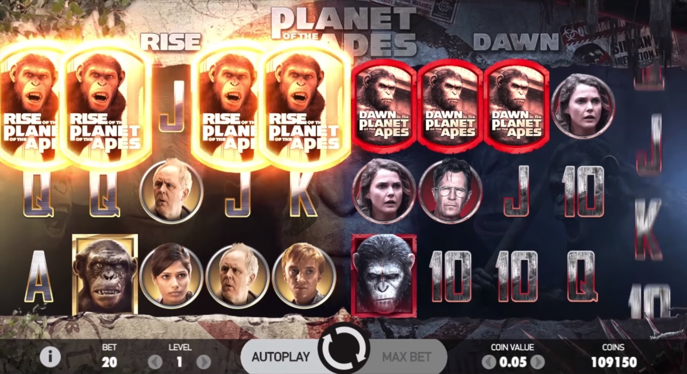 Planet of the Apes Bonus Symbols